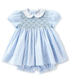 Shop for Friedknit Creations Baby Girls Months Floral Printed Smocked Dress at Dillard's. Visit Dillard's to find clothing, accessories, shoes, cosmetics & more. The Style of Your Life. Smocked Baby Clothes, Girls Smocked Dresses, Baby Clothes Patterns, Little Girl Dresses, Sewing Patterns, Dress Patterns, Dress Girl, Clothing Patterns, Smocked Clothing