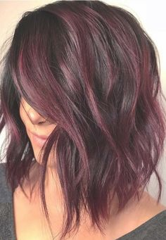 50 Purple Hair Color Ideas for Brunettes You Will Love in 2019 - Short Pixie Cut. - 50 Purple Hair Color Ideas for Brunettes You Will Love in 2019 – Short Pixie Cuts - Hair Color Purple, Cool Hair Color, Cherry Hair Colors, Purple Wig, Black Cherry Hair Color, Hair Color With Red, Short Hair Colour, Chocolate Cherry Hair Color, Purple Brown Hair