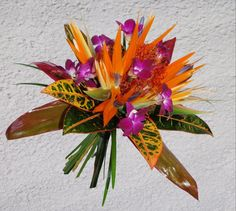 Our Tropical Wedding Bouquet