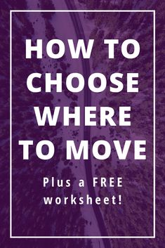 How do you decide where to move? Are you wanting to relocate but not sure how to decide where to live? It can be overwhelming to think about. This guide will help you choose! Moving Tips, Moving Out, Moving Hacks, Study Skills, Study Tips, Best Places To Move, Moving Across Country, Moving To Another State, Journal Questions