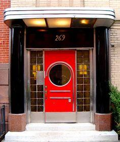 David Cobb Craig: Art Deco Doors in N.Y.C.  269 Henry Street, Brooklyn Heights.