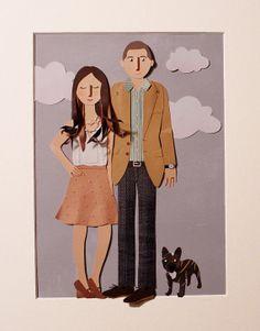 Custom Paper Cut Family Portrait