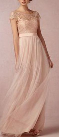 Cap Sleeve Bridesmaid Dress, Lace Bridesmaid Dress Long Bridesmaid Dress Elegant Bridesmaid Dress Bridesmaid Dress