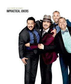 my four favorite guys ❤ Impractical Jokers, Man Humor, Funny Guys, Mad