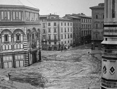 The 1966 flood of the Arno River in Florence, Italy,  killed 101 people and damaged or destroyed millions of masterpieces of art and rare books. It is considered the worst flood in the city's history since 1557