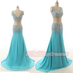 Real Sexy Ice Blue Long Beaded Prom Dresses,Evening Dresses,Prom Dress http://21weddingdresses.storenvy.com/products/15862617-real-sexy-ice-blue-long-beaded-prom-dresses-evening-dresses-prom-dress