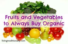 Fruits and Vegetables to Always Buy Organic