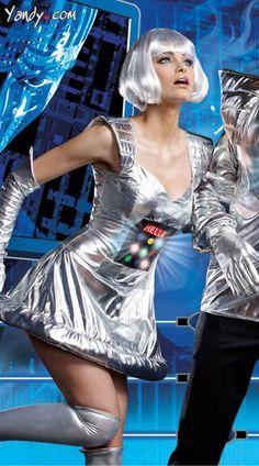 Robot A Bing Costume, Metallic Robot Costume, Interactive Costumes, Womens Robot Costume