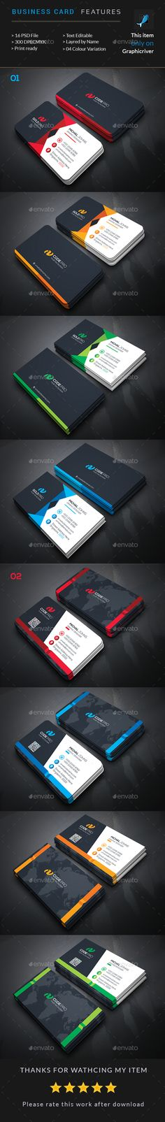 Business Card Bundle (2 in 1) - Business Cards Print Templates Download here : http://graphicriver.net/item/business-card-bundle-2-in-1/16847348?s_rank=33&ref=Al-fatih