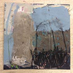 Ines Hildur Le Grand Bleu 40 x 40 Paper on wood 2014