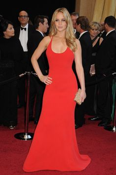 The Best Young Hollywood Oscar Dresses of All Time calvin klein 2011 jeniffer lawrence