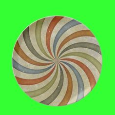 Ribbon Swirl Plate by Groovyal
