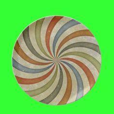 Ribbon Swirl Plate by Groovyal