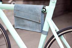 Leather Bike Bag. $80.00, via Etsy.