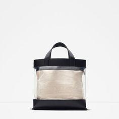 image 1 de sac cabas en vinyle de zara