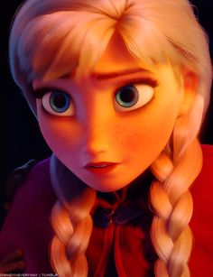 Anna's eyes were initially more green... Did anybody else notice that Anna's eyes gradually turn more blue after Elsa freezes her heart?