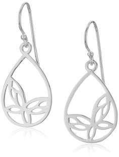 Sterling Silver Open Butterfly Teardrop Earrings ** Read more reviews of the product by visiting the link on the image. (This is an affiliate link and I receive a commission for the sales)