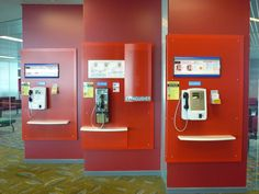 Telephone Booth #Singapore Changi Airport #red #design #interior #mytrip #2011
