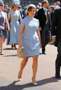 Princess Eugenie of York looked charming at while attending the royal wedding of Prince Harry and Meghan Markle. Prince Harry Wedding, Harry And Meghan Wedding, Meghan Markle Wedding, Prince Harry And Meghan, Prince Andrew, Prince Henry, Prince William, Princesa Beatrice, Princesa Eugenie