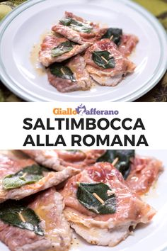 Saltimbocca alla romana with ham healthy Saltimbocca alla Romana Veal Recipes, Paleo Recipes, Chicken Recipes, Italian Food Restaurant, Italian Restaurants, Food Wishes, Italy Food, Food And Drink, Battaglia