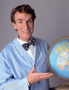 Bill Nye the Science Guy. He is my teaching role model and that's not a joke- because of him, an entire generation of kids got super excited about science and learning. Kids were using their free time outside of school to watch, perform, and talk about science!