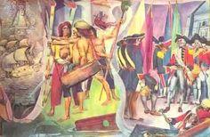 Carlos Botong Francisco - Part of a Mural on Philippine History Filipino Art, Philippine Art, Filipiniana, Dragon Artwork, Philippines, Modern Art, It Works, History, Painters