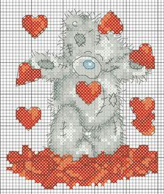 . Cross Stitch Bookmarks, Cute Cross Stitch, Cross Stitch Animals, Cross Stitch Kits, Cross Stitch Charts, Tatty Teddy, Cross Stitching, Cross Stitch Embroidery, Embroidery Patterns
