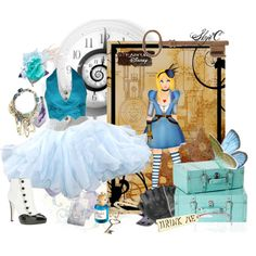 """Alice - Steampunk - Disney's Alice in Wonderland"" by rubytyra on Polyvore"