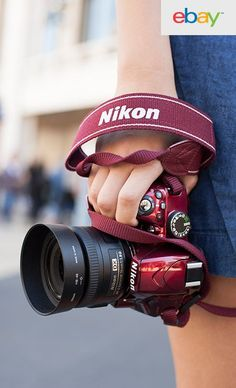 Bringing a whole new meaning to the phrase, 'arm candy' is the fashionable Nikon D3200 digital SLR in candy apple red. You can make a fashion statement by simply bringing this camera along wherever you travel.
