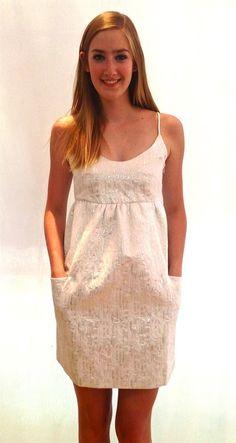 petton silver dress by #hunterdixon