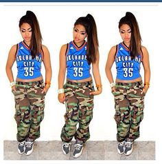 "Ur cool...  Sorry but no matter how much you wanna be a ""tom boy"", wearing something like this makes it obvious that you care a lot about your ""tom boy"" look. (I hope i'm explaining this right) Camo bla! Why would you want to dress like this? Girls, when you get up in the morning and get dressed, look at this picture and make sure you look nothing like it!   I'm sure she's very nice!"