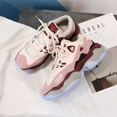9aed746da754b Chunky Sneakers Spring Autumn Shoes PU27 – iawear Dad Shoes