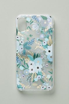 Rifle Paper Co. Garden Party iPhone Case - Blue Iphone 7 Case - Ideas of Blue Iphone 7 Case - Rifle Paper Co. Garden Party iPhone Case by in Blue Size: M Tech Essentials at Anthropologie Diy Iphone Case, Iphone Phone Cases, Iphone Case Covers, Iphone 7, Iphone Charger, Apple Iphone, Iphone Deals, Diy Case, Iphone Hacks