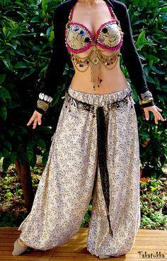 Pantalon de danse orientale Boho pantalons danse costume