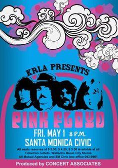 Pink Floyd Santa Monica Civic Poster (1) par Anonymous - print