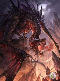 dark dragon by sandara Digital Art / Drawings & Paintings / Illustrations / Conceptual©2014 sandara