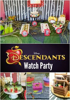 Disney's Descendants Watch Party; will be a hot theme this Halloween, lots of great party ideas! #DisneyDescendants #spon