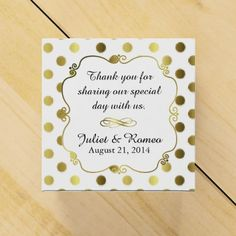 Chic Gold Polka Dot Custom Wedding Favor Gift Box Wedding Favor Boxes