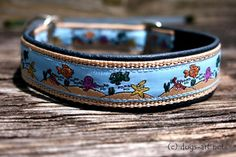 dogsart Seaworld Martingale Leather Collar dark by dogsartcollars, $32.00