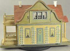 GOTTSCHALK RED ROOF DOLLHOUSE WITH GARDEN : Lot 1357