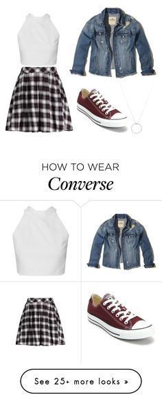 """tumblr 1"" by deboranovaissluz on Polyvore featuring Converse, Hollister Co. and Roberto Coin"