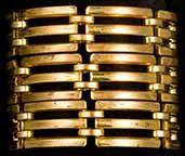 Monet Retro Wide Link Bracelet  Item #AY12319 http://www.milkywayjewels.com/bracelets/AY12319.html