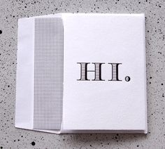 Sometimes you just need one word. I love this stationery from Suitor.