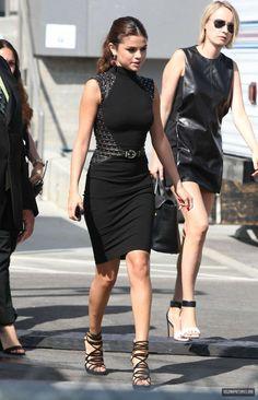 sleek black dress & shoes