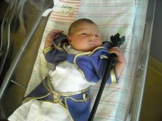 Around Labor and Delivery: Pride and joy. Miss Jaina Proudmoore wearing her new outfit her mom tailored for her. Congratulations to the parents!