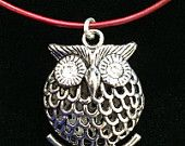 ADORABLE!  Owl Pendant with Swarovski Crystal Eyes on Leather Cord!  Buy this dude now for only $20  http://indalogifts.com/ http://indalogallery.com