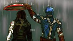 Bucky can't get his hair wet!