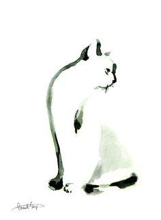 Cat Minimalist Painting