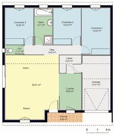 Découvrez les plans de cette maison accessible sur www.construiresamaison.com >>>