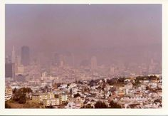 #ThrowbackThursday - View from Twin Peaks toward a polluted downtown San Francisco in the 1970's
